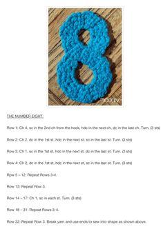 8 Crochet Numbers, Crochet Projects, Crochet Earrings, Projects To Try