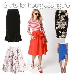 Skirts for hourglass figure by bellabebella on Polyvore featuring Christopher Fischer and River Island