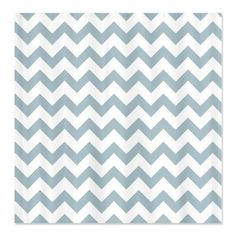 CafePress Light Blue White Zigzag Chevron Pattern Shower Cur Shower Curtain  Standard White * Continue to the product at the image link.