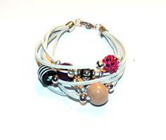 Bracelet - rawhide and pendants