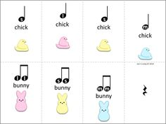 Easter / Spring activity (free) - Composing, clapping, and singing, so-mi-la, ta, ti-ti, rest