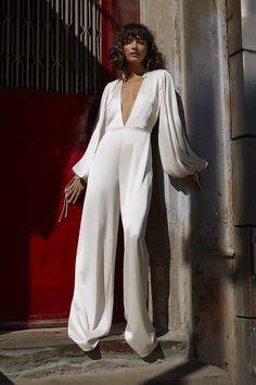 Party Dresses For Women, Bridal Dresses, Nice Dresses, Amazing Dresses, Wedding Jumpsuit, White Bridal, Custom Dresses, Jumpsuit Dress, Bridal Boutique