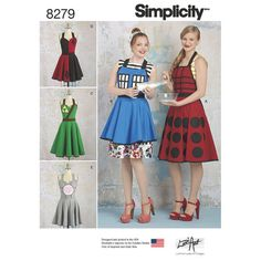 Simplicity Pattern 8279 Misses' Aprons from Lori Ann Costume Designs