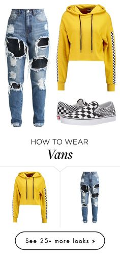"""Untitled #435"" by amina1125 on Polyvore featuring TWINTIP and Vans"