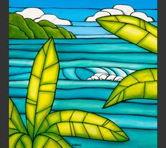 Tropical Daydream by Hawaii surf artist Heather Brown #heatherbrown #hawaiiart #surfart