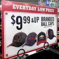 Famous-Name Branded Ball Caps Tractor Supply Company, Cowboy Hat Rack, Chevy, Chevrolet, Clothes Clips, Retail Fixtures, Hat Display, Hat Stores, Ball Caps