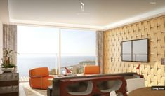 Retro Inspired Sitting Area With Ocean Views