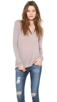 Wilt Easy Raw T-Shirt with Long Sleeves | SHOPBOP