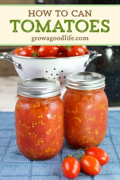 Canning your own crushed or diced tomatoes is a quick way to preserve a bumper crop of ripe tomatoes. You can use the canned tomatoes in so many ways, including adding to chilies, soups, and casseroles. Recipes With Diced Tomatoes, Canned Tomato Recipes, Home Canning Recipes, Canning Tips, Cooking Recipes, Canned Stewed Tomatoes, Crushed Tomato Recipe, Canning Crushed Tomatoes, Canning Tomatoes Water Bath