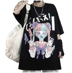 Pastel Goth Outfits, Pastel Goth Fashion, Pastel Outfit, Edgy Outfits, Anime Outfits, Pastel Goth Style, Pastel Goth Clothes, Pastel Shirt, Grunge Clothes