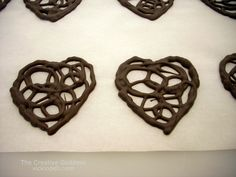 Lacy Chocolate Heart Garnish for Valentine's DayVicki O'Dell... The Creative Goddess