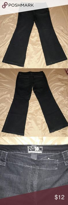 Jeans NYC Platinum Jeans size 14 wide leg 31in inseam NYC Platinum  Jeans Flare & Wide Leg