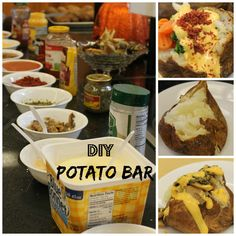 potato bar - cooking lots of potatoes
