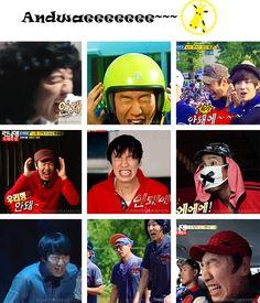 Kwang Soo's code → Andwaeeeee~~  Nooooo!!! Hahaha