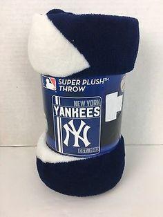 "d409c4088d3 Details about New York Yankees Super Plush Throw Blanket 46"" X 60"" MLB"