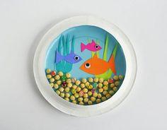 How to: Paper Plate Aquarium #BabyCenterBlog