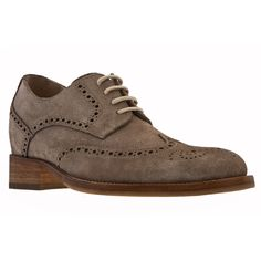 Elevator Dress Shoes - Upper in dove grey suede calf leather, leather heel with special anti-slip rubber, cotton waxed shoe laces. Hand made in Italy. elevator shoes, height increasing shoes