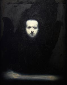 Ken Currie, Self portrait with skeleton arm, 1995