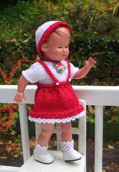 Schildkröt Puppe INGE 16/16 1/2 cm Celluloid Original 50er J. neue Kleidung TOP | eBay