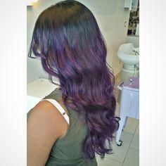 Purple ombre, violet, grape, hair, hotd, hairstyles, hairstyle, long hair, high contrast ombre, pravana, pravana vivids