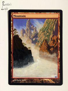 Mountain - Full Art - MTG Alter - Revelen's Light Altered Art Magic Card