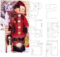 Great Christmas Raggedy and Pattern