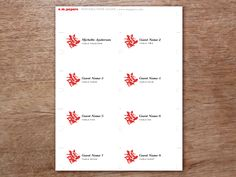 A printable PDF place card template. Just enter your text, print and cut.