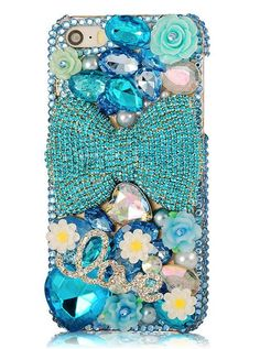 Resultado de imagen para Diamond Glamour Rhinestone Bling Bling Back Perfume Case for iPhone 6