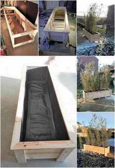DIY Planter Box from Old Pallets: 7 Steps: In order to add the house garden with the beauty impacts of attraction, for sure the idea of adding the planter box creations is one of the mind-blowing. Pallet Flower Box, Wooden Flower Boxes, Diy Flower Boxes, Wood Pallet Planters, Wood Planter Box, Raised Planter, Pallet Wood, Diy Planters Outdoor, Window Planter Boxes