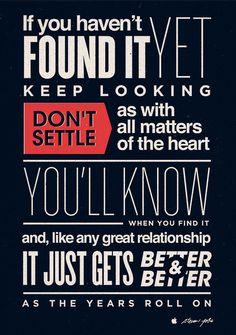 Don't Settle Poster.
