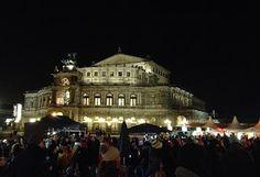 Dresden, Semperoper, Silvester, bei Nacht