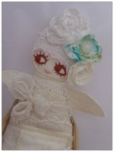 Handmade art angel doll Romantic Soft toy Christmas  by LARION, Ft9000.00