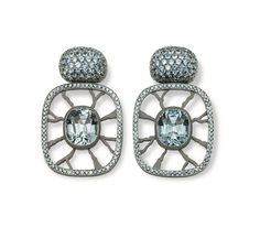 Hemmerle earrings with sapphires set in aluminum and white gold. Photo courtesy of Hemmerle.                                                ...