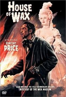House of Wax. this movie is awesome. Loved this movie so much. The opening credits said this was shown in 3d, would have loved to see that!