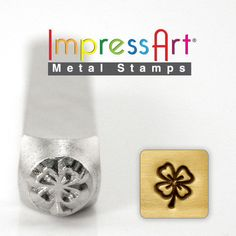 Four Leaf Clover ImpressArt Metal Design Stamp- Steel Hand Punch, Jewelry