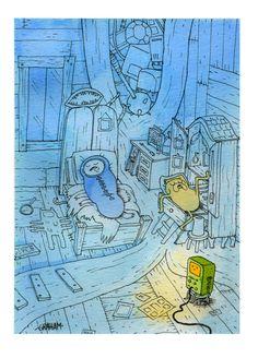 Adventure Time, sleeping Finn and Jake