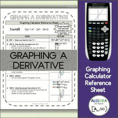 This graphing calculator reference sheet guides students step-by-step on how to graph the first and second derivative of a function on the calculator.Teaching graphing calculator skills help students with: SpeedMaking connectionsChecking for accuracyLeaping hurdles*Reference sheet can be used with a TI-83 or TI-84 graphing calculator.Please look at the preview to find out more information about this resource.Benefits of following this store:Save $$$ - Follow this store and receive updates…