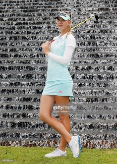 Great Jessica Korda of the United States poses for a portrait during the Pro-Am prior to the start of the HSBC Women's Champions at the Sentosa Golf Club on March 2015 in Singapore, Singapore. Ladies Golf Clubs, Best Golf Clubs, Girls Golf, Women Golf, Golf Attire, Golf Outfit, Golf Sexy, Tennis Players Female, Womens Golf Shoes