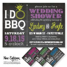 I Do BBQ Wedding or Bridal Shower. Custom by NineEighteen on Etsy, $12.00