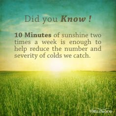 Health tip on sunshine