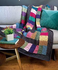 Easy to Crochet scrap yarn afghan patterns (affiliate link)