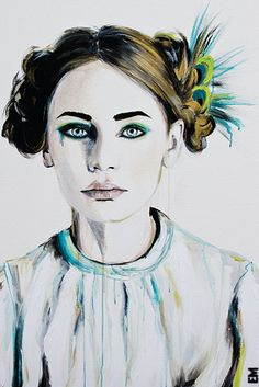 """seduced by a peacock"" (2008) - Emma Sheldrake"