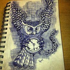 cool owl tattoo idea