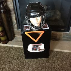 At the request of my son, he and I created a hockey player for his 2016 Valentine Box!