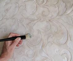 stenciling on plasters and textured finishes, paint colors, painting, wall decor, Step 1