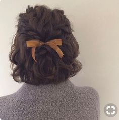 Short Hairtyles 2018 Haarzöpfe 23 Styles for Short Curly Hair Braids For Short Hair, Short Hair Cuts, Hairstyle Short, Curl Short Hair, Ribbon Hairstyle, Long Braids, Pixie Cuts, Short Pixie, Outfits For Short Hair