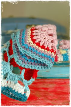 Potholders by niebieska chata in lovely colours.