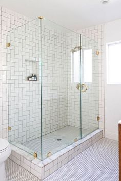Shower Idea for Small Bathroom. 20 Shower Idea for Small Bathroom. Basement Bathroom Shower Tile Built In Shelving Tucked Bathroom Design Small, Small Bathrooms, Tile Bathrooms, Bathroom Designs, Bathroom Showers, Bath Shower, Shower Basin, Kohler Shower, Glass Showers