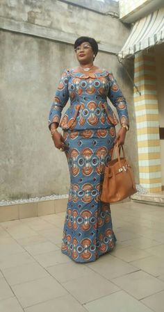 Special Ankara Materials Worn by the Typical African Mothers - WearitAfrica - African Fashion Dresses African Print Dresses, African Print Fashion, Africa Fashion, African Fashion Dresses, African Dress, Ankara Fashion, African Attire, African Wear, African Women