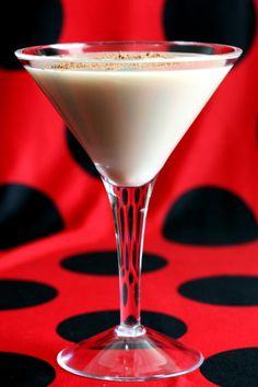 Brandy Alexander drink recipe: Brandy, creme de cacao, cream, nutmeg